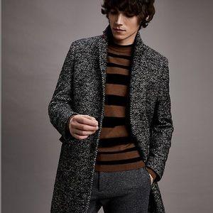 Tommy Hilfiger Wool Herringbone Coat